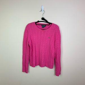 Lauren Ralph Lauren  Pink Cable Knit Sweater